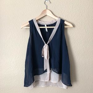 UO paper crane layered flowy top